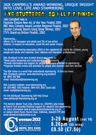 2005 show back of flyer